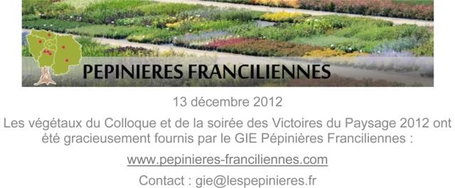 Affiche du GIE lors des Victoires du Paysage 2012